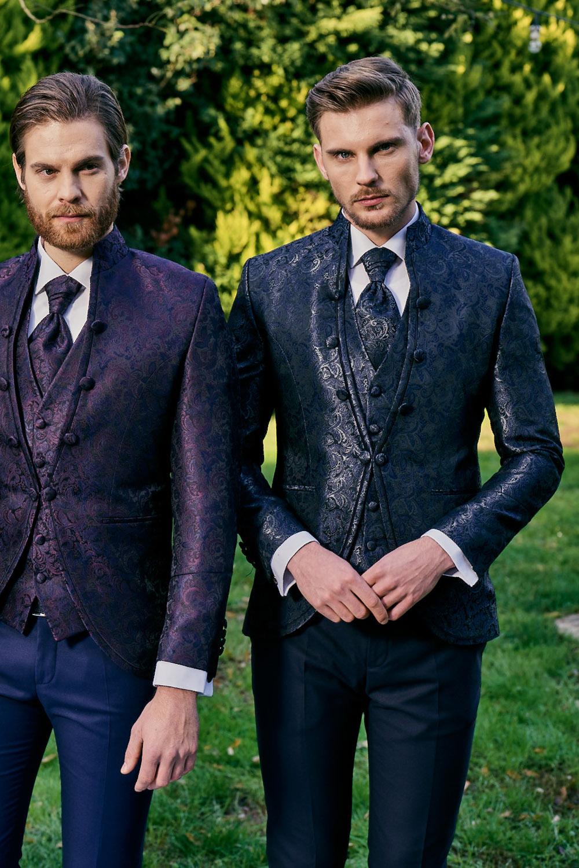 Manzetti dunkelblauer Hochzeitsanzug 7004-02