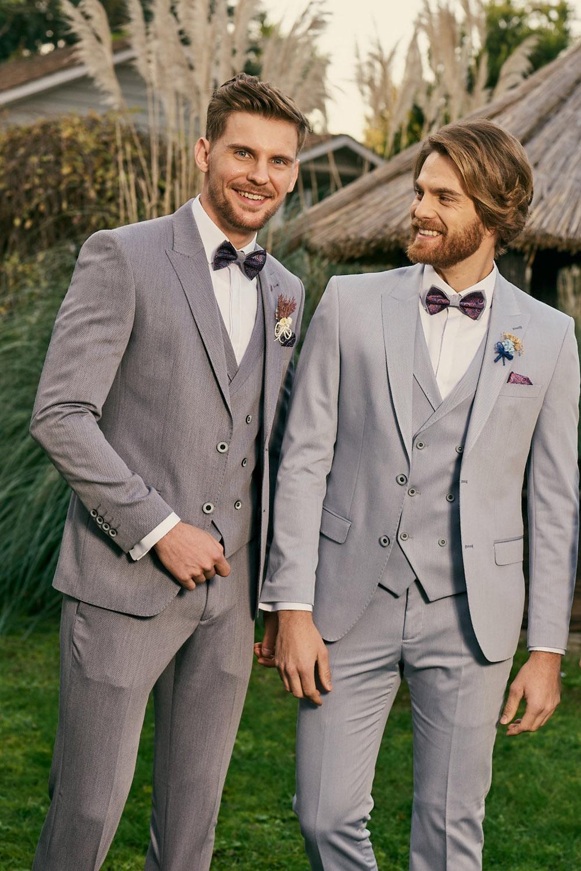 Manzetti grauer Hochzeitsanzug 3483-02