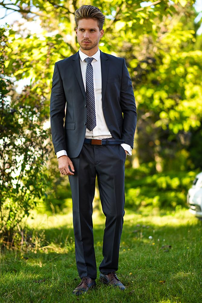 Manzetti grauer Anzug Einzelheiten 3530-03