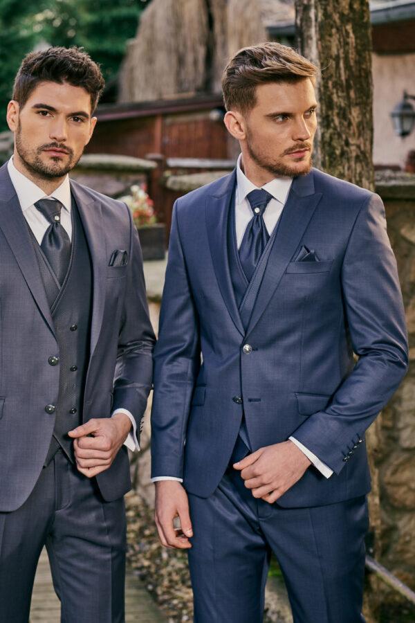 Manzetti blauer Hochzeitsanzug 9437-14 (Auf der rechten Seite)