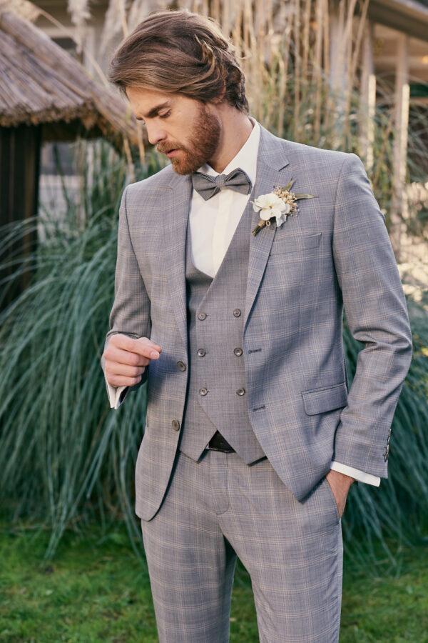 Manzetti grauer Hochzeitsanzug 9440-03